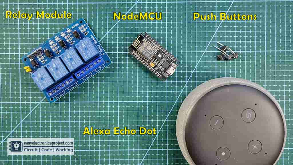 Components for amazon echo home automation