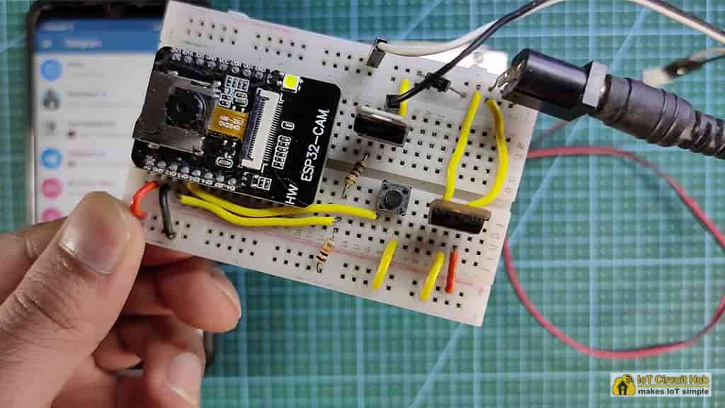 Connect the ESP32CAM with circuit
