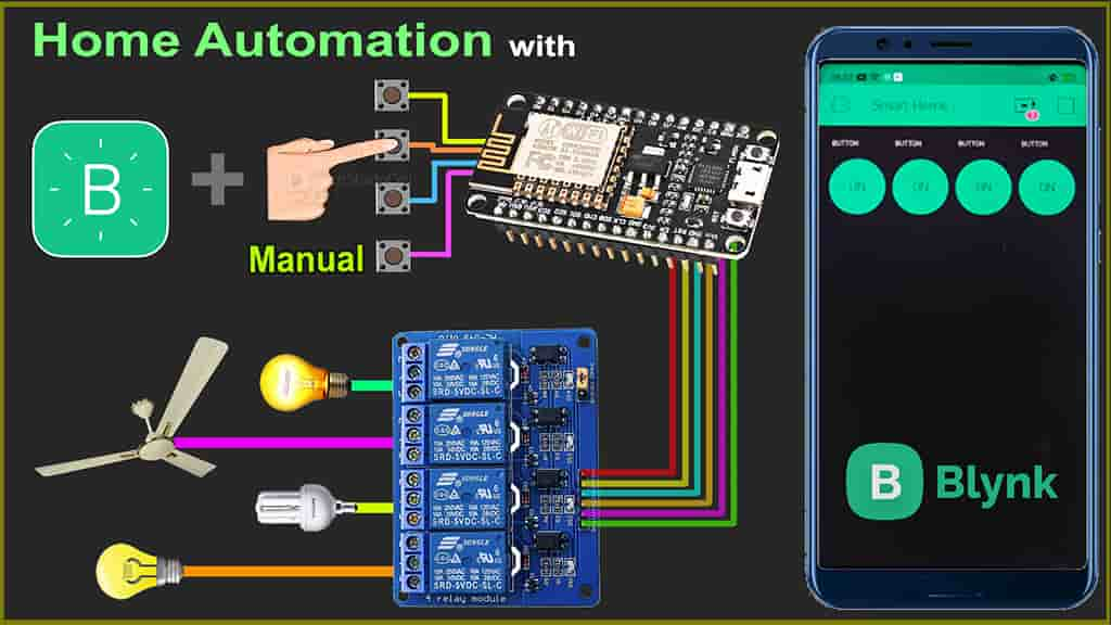 Home Automation with Blynk using NodeMCU ESP8266
