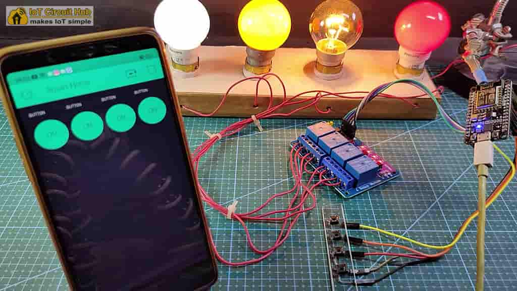 NodeMCU ESP8266 Home Automation with Blynk App