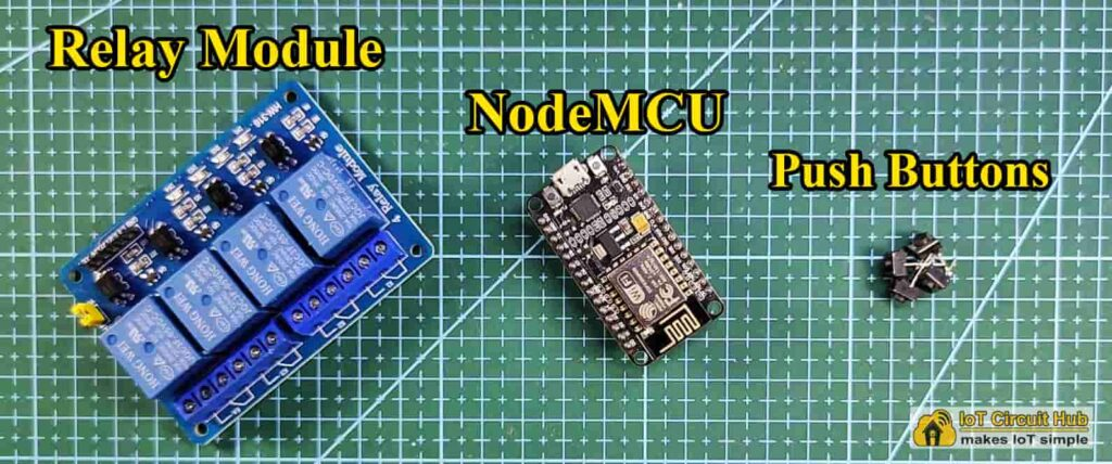 Components for NodeMCU Blynk project