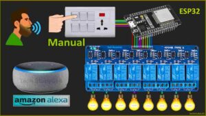 Read more about the article Smart Home System using ESP32 Alexa controlled Relay