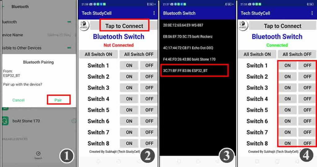 Connect the ESP32 with Bluetooth
