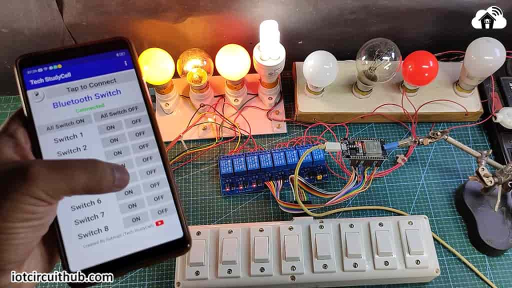 Controlling Relay with Bluetooth