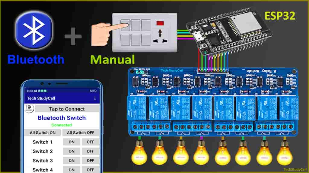 ESP32 Bluetooth Home Automation System with Manual Switch