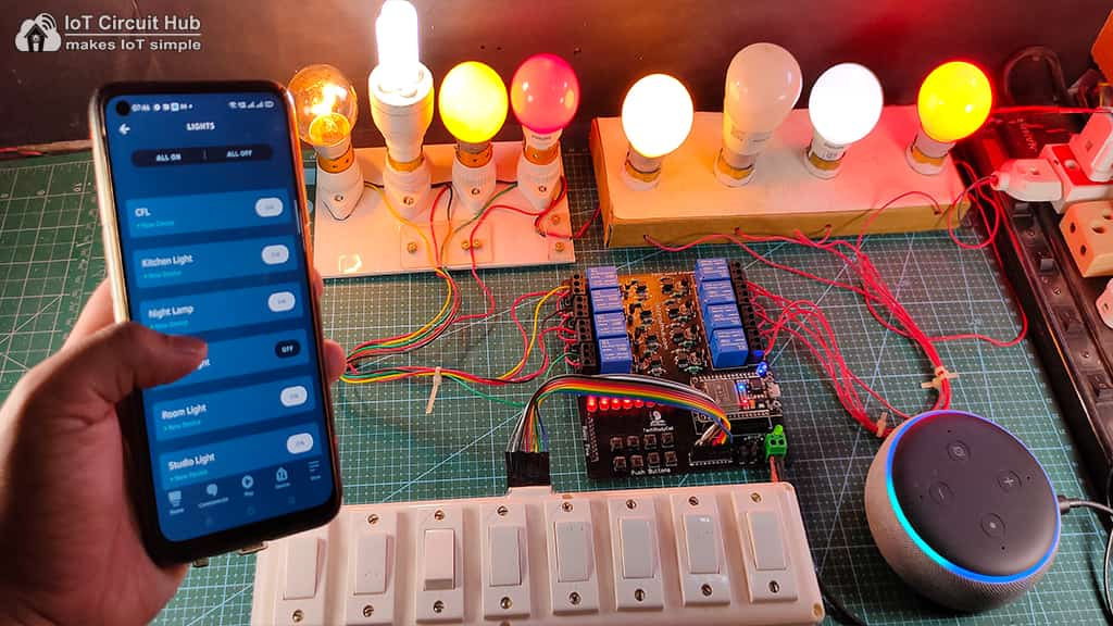 Controlling the relays from the Amazon Alexa App