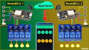 Multiple NodeMCU ESP8266 Blynk Home Automation System