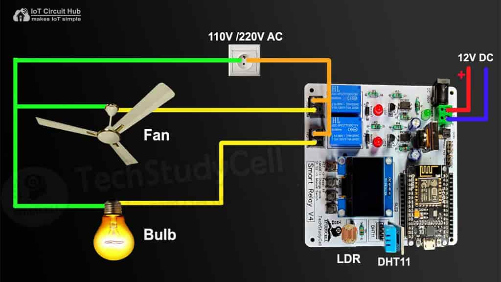 Connect Home Appliances with Relay