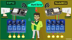 Home Automation using IoT with ESP32 NodeMCU & Blynk
