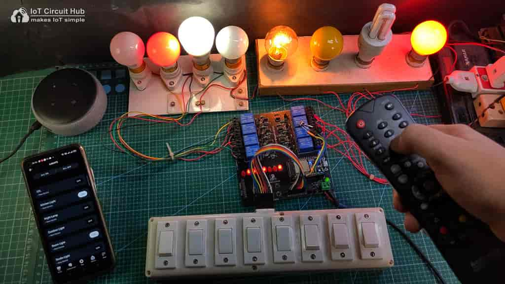 Control relays with IR Remote