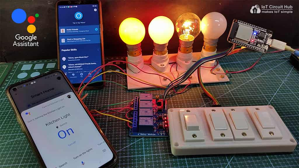 ESP32 Control Relays with Google Assistant