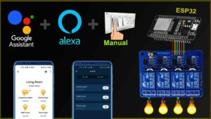 Read more about the article IoT based projects using ESP32 with Google Home & Alexa