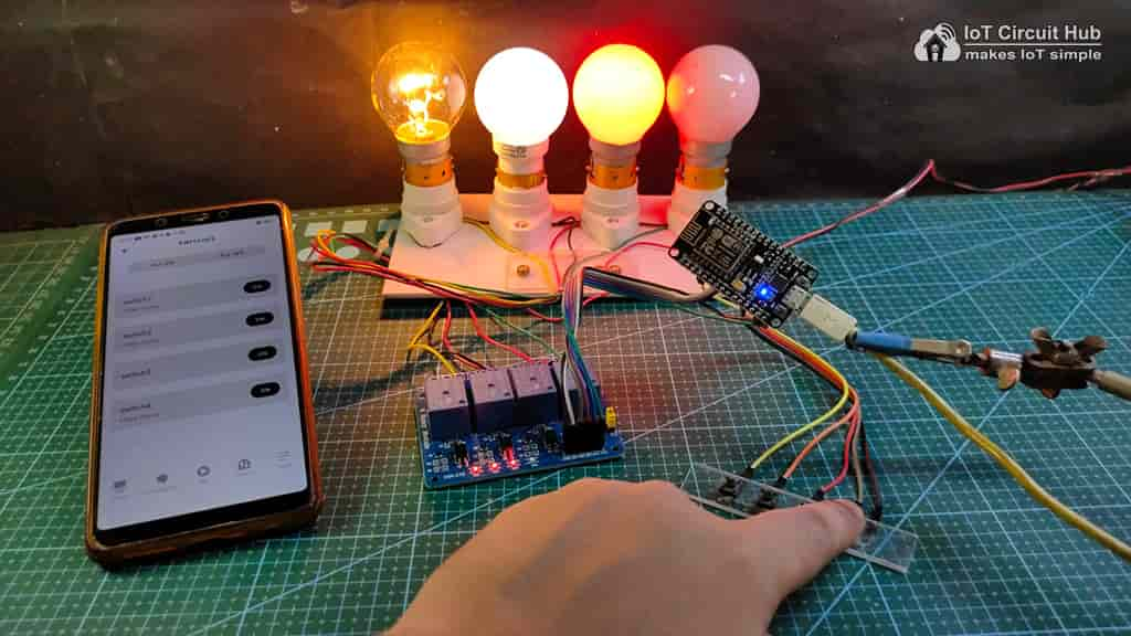 Control Relays manually with internet