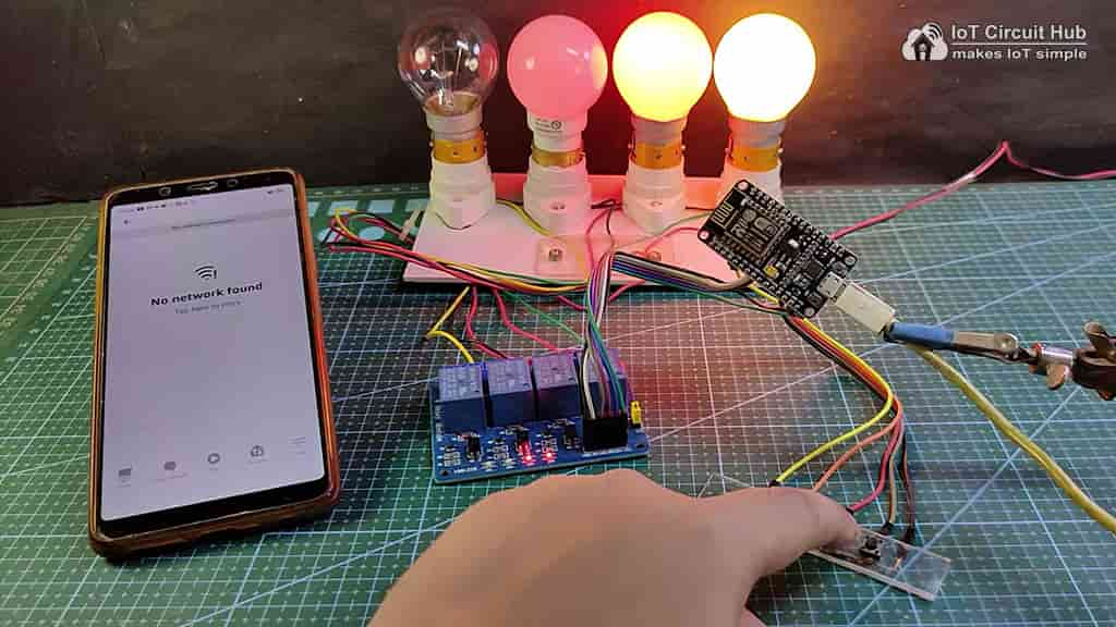 Control Relays manually without internet