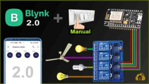 Read more about the article Home Automation using NodeMCU ESP8266 and Blynk 2.0